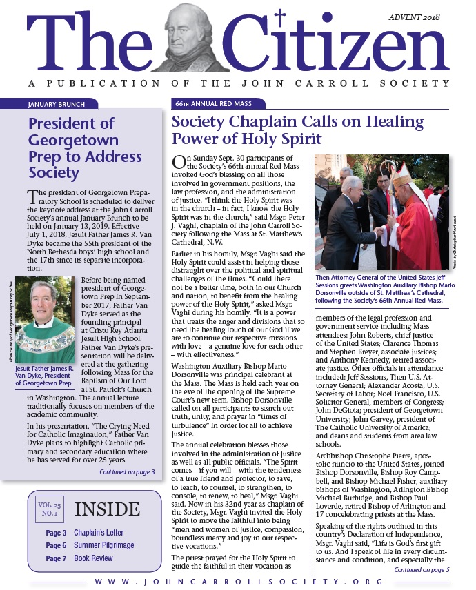 Carroll Citizen -- Advent 2018